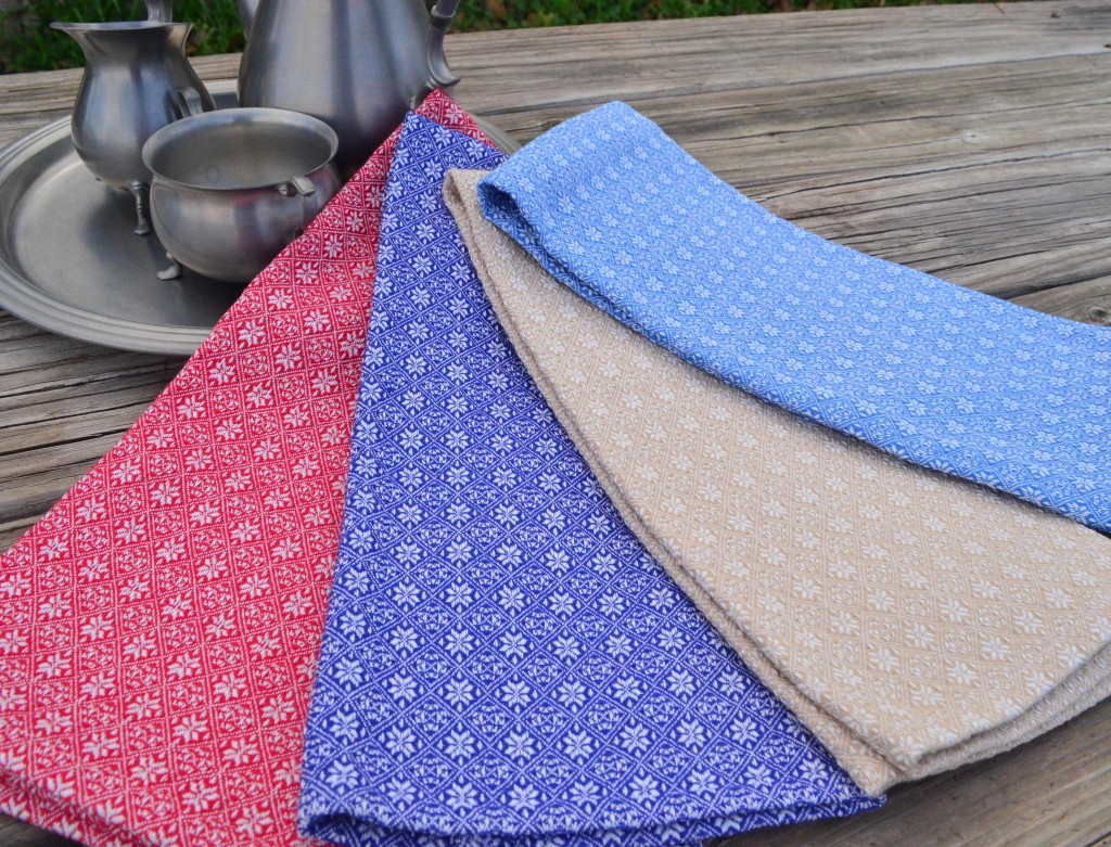 Point twill flower towel
