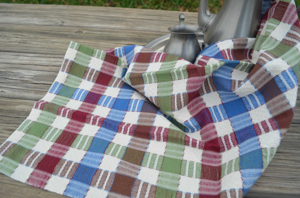 Summer harvest plaid towel